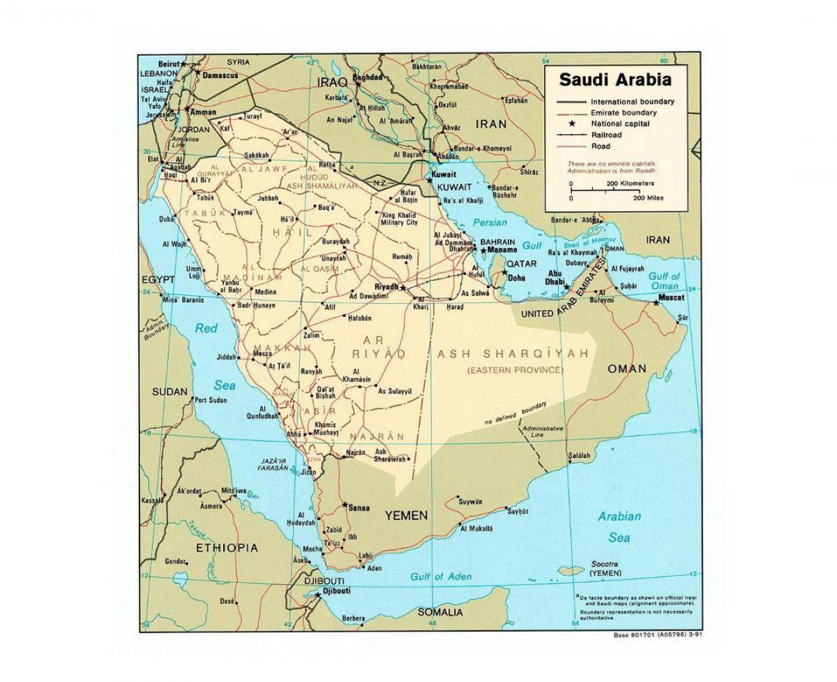 Carte Asie Avec Villes.L Arabie Saoudite Carte Avec Les Villes L Arabie Saoudite